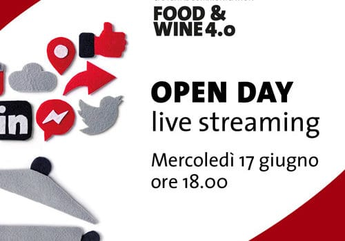 Open Day in live streaming del Master Food & Wine 4.0 IUSVE